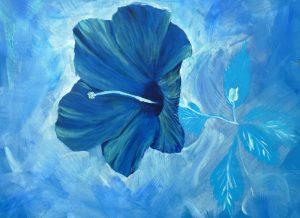 hibiscus bleu fleur tropicale