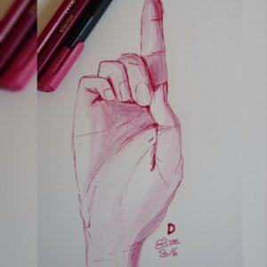 D alphabet en langue des signes francaise dessin main feutre stylo elize
