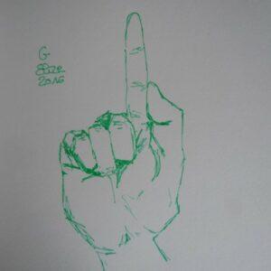 G alphabet en langue des signes francaise dessin main feutre stylo elize