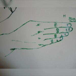 M alphabet en langue des signes francaise dessin main feutre stylo elize
