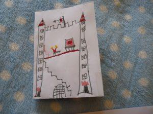 arc-en-ciel carte pop-up enfant activité chateau