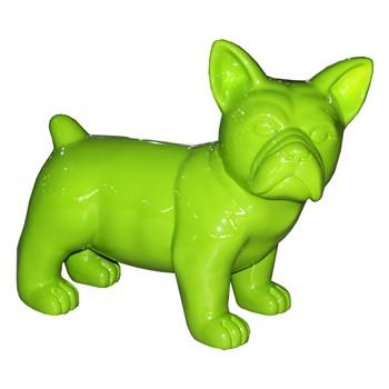 chien vert anis pomme sculpture animalière couleur flashy