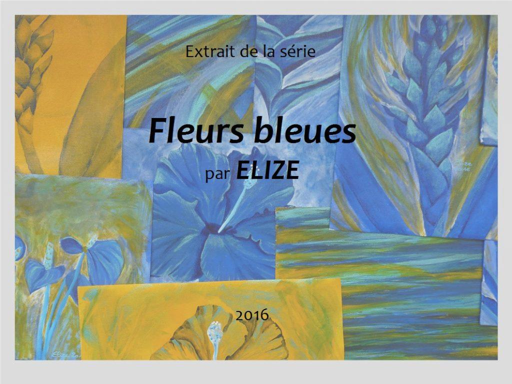 elize portfolio tableau peinture série fleurs bleues
