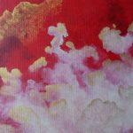 nuage rouge ciel tableau or elize