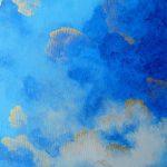 nuage bleu ciel tableau or elize