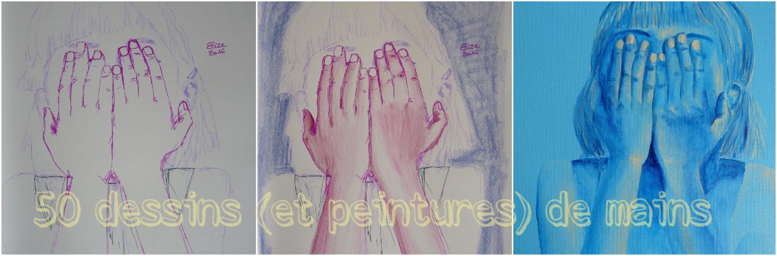 dessins de mains fillette elize