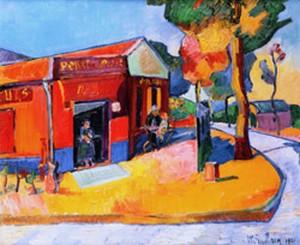 Marthe Guillain - Auberge tableau fauvisme couleur vive