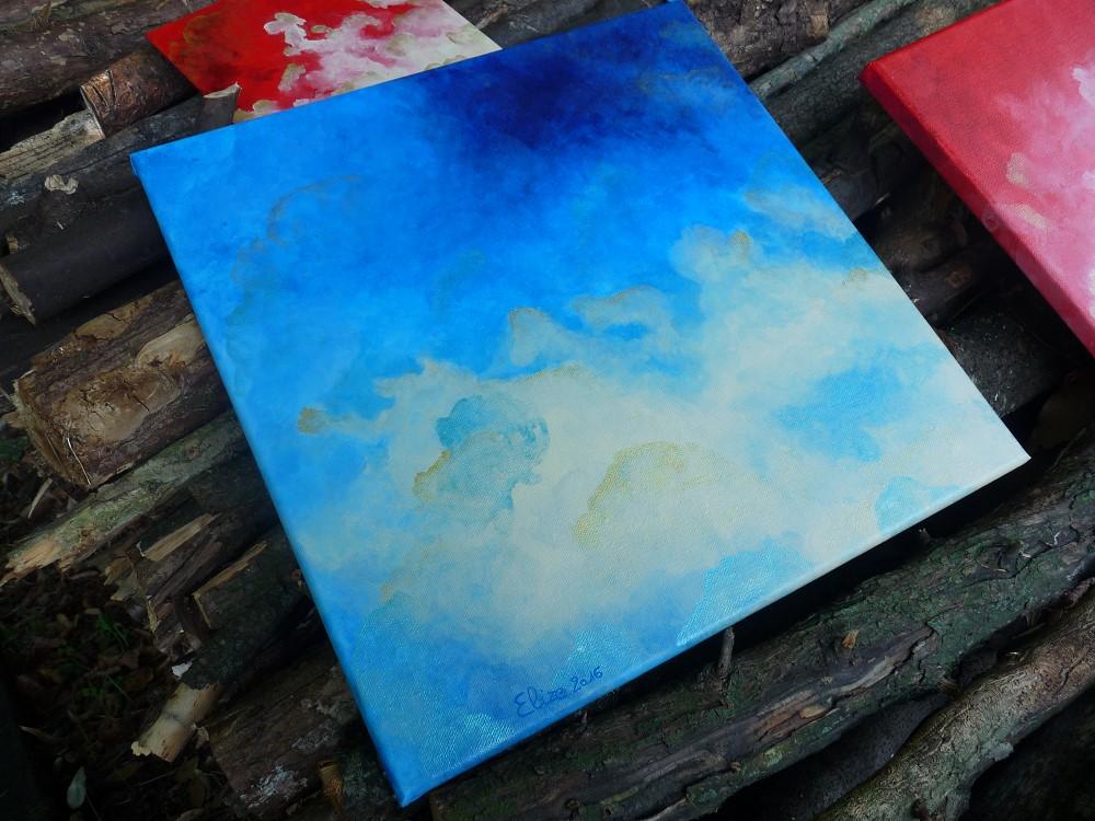 nuages en perspective grand dans la nature bleu météo