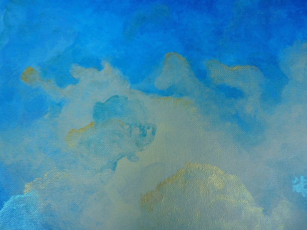nuages en perspective grand dans la nature bleu météo détail