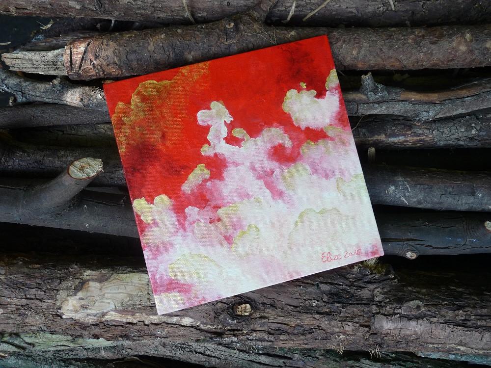 nuages en perspective grand dans la nature rouge météo
