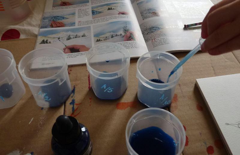 gobelet encre bleu