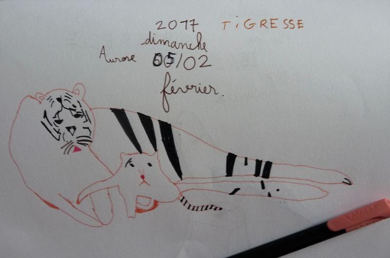tigresse et son petit dessin enfant tigre