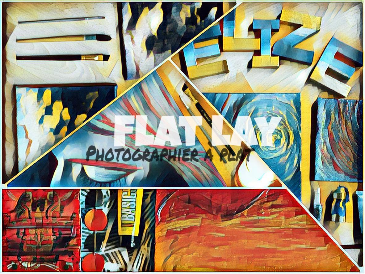 Flatlay : ma méthode préférée pour les photos de mes tableaux