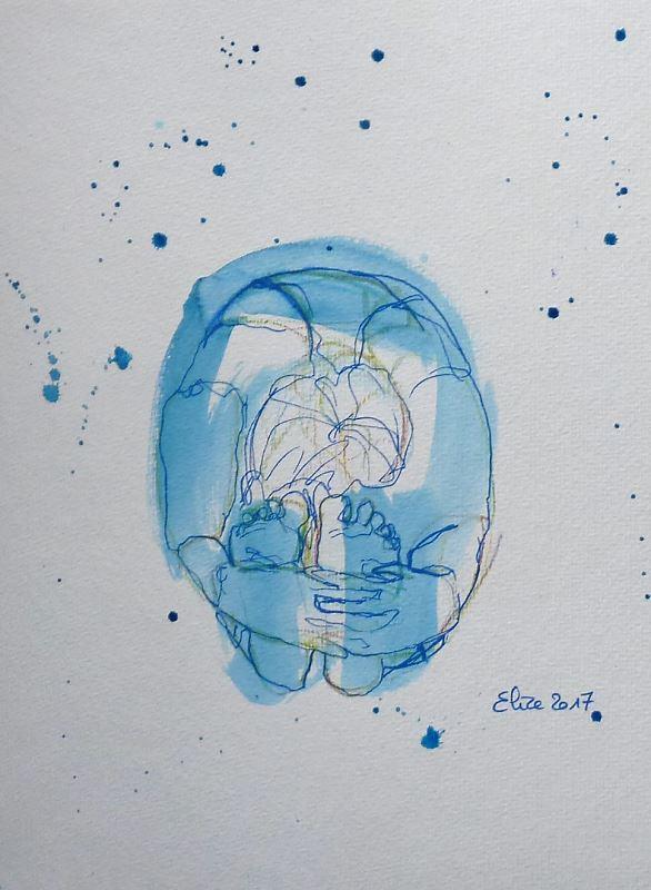 yoga posture pince dessin encre pinceau elize