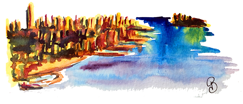 aquarelle ville new york pauline