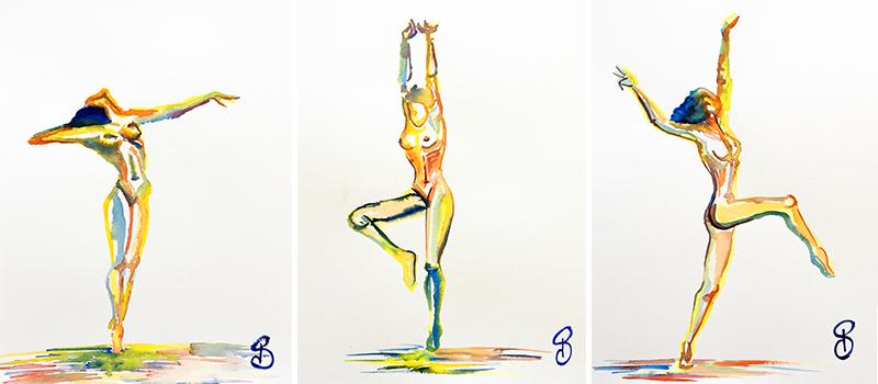 danse aquarelle couleur pauline