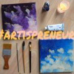 artispreneur artiste entrepreneur pinceau tableau nuages art