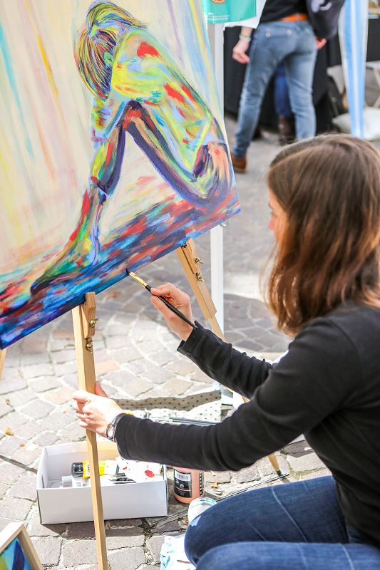tableau en cours réalisation elize peint peinture