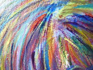 elize couleurs abstrait peinture trait cheveux