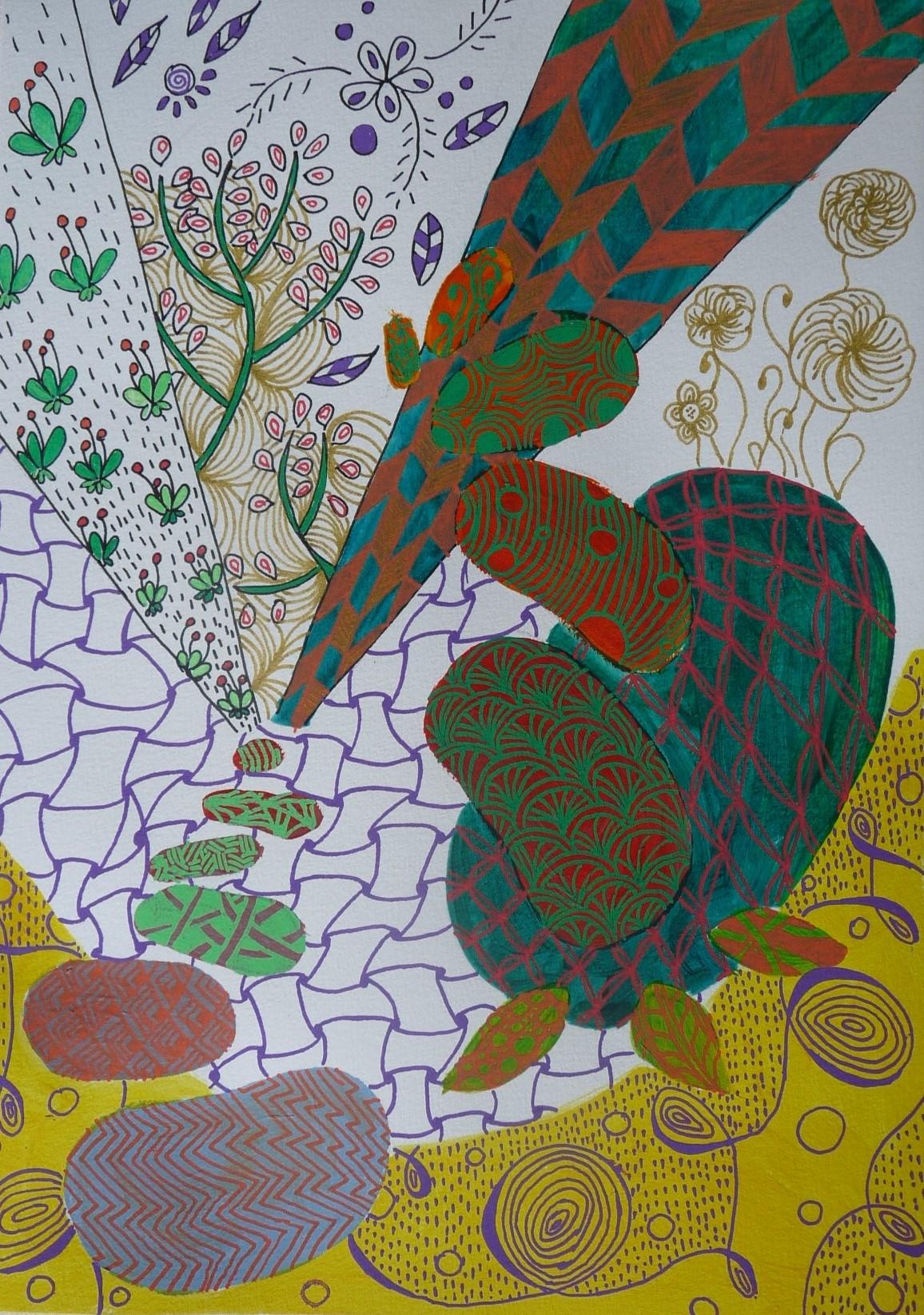 peinture abstraite elize marina lefloch peinture collective zentangle