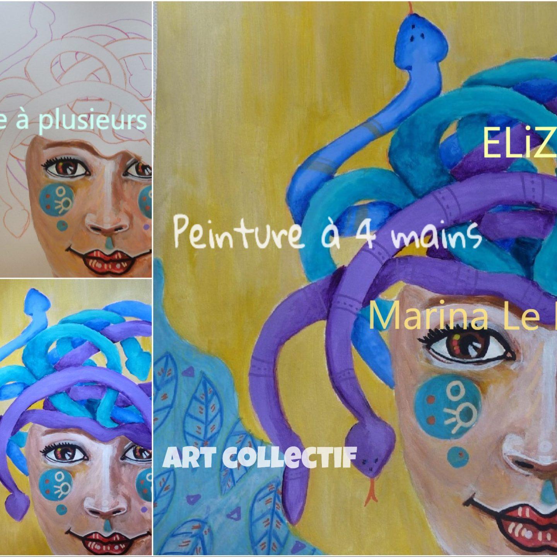 Peinture à 4 mains avec Marina Le Floch