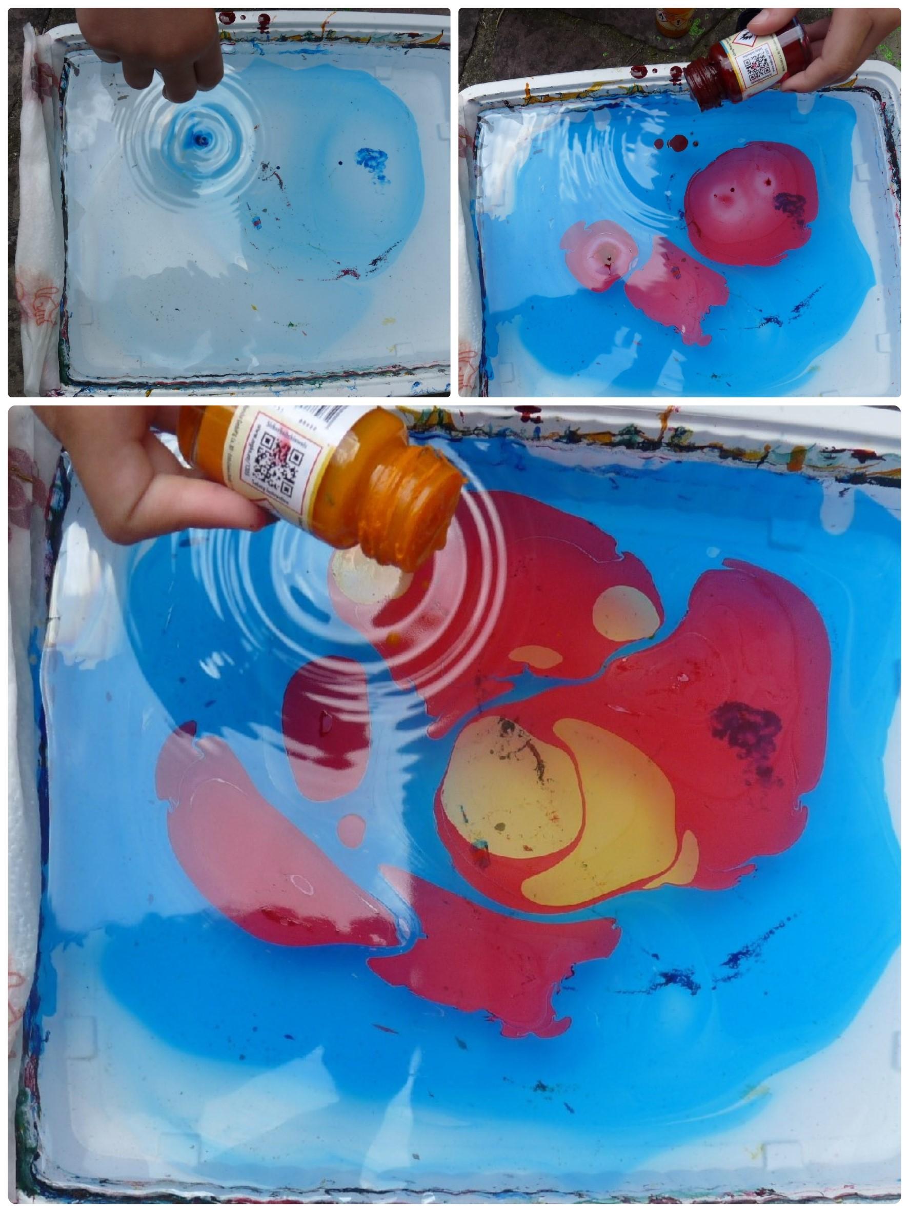 peinture marbrée goutte melange elize pigmentropie enfants