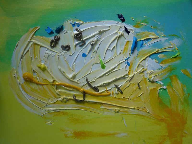 peinture acrylique elize pigmentropie jaune bleu