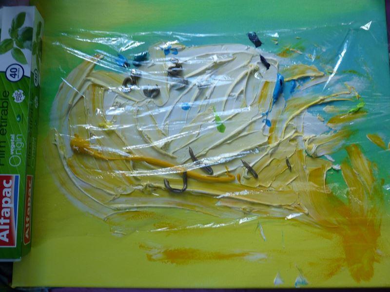 film alimentaire peindre peinture acrylique pigmentropie