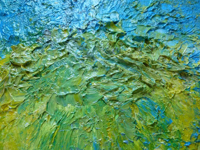 peinture abstraite film etirable alimentaire peinture peindre technique detail relief