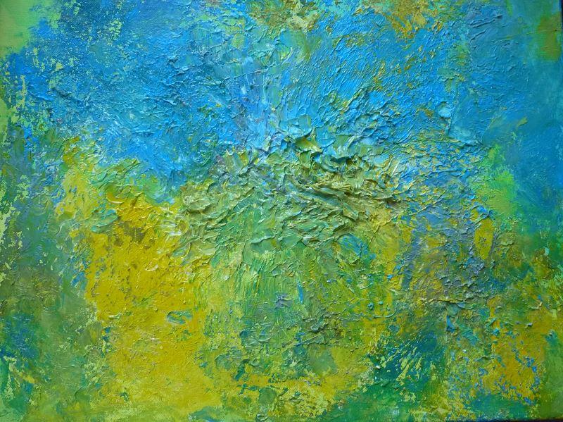 peinture abstraite film etirable alimentaire peinture peindre technique