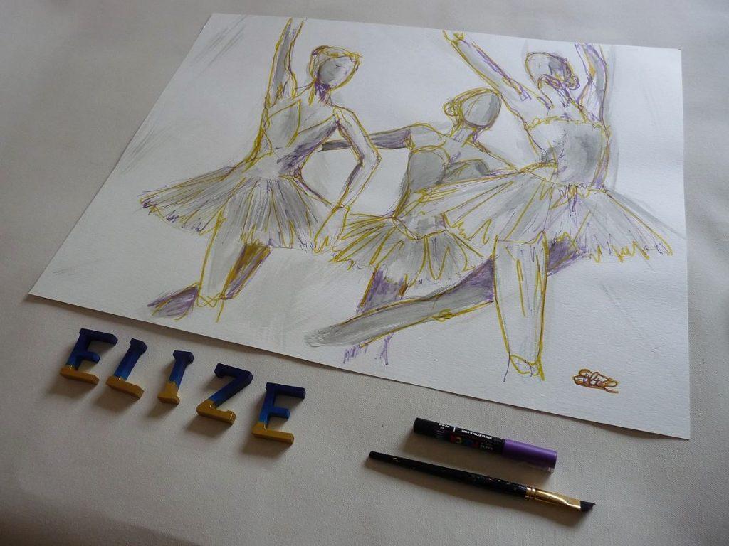danseuses danse classique elize esquisse dessin artistique