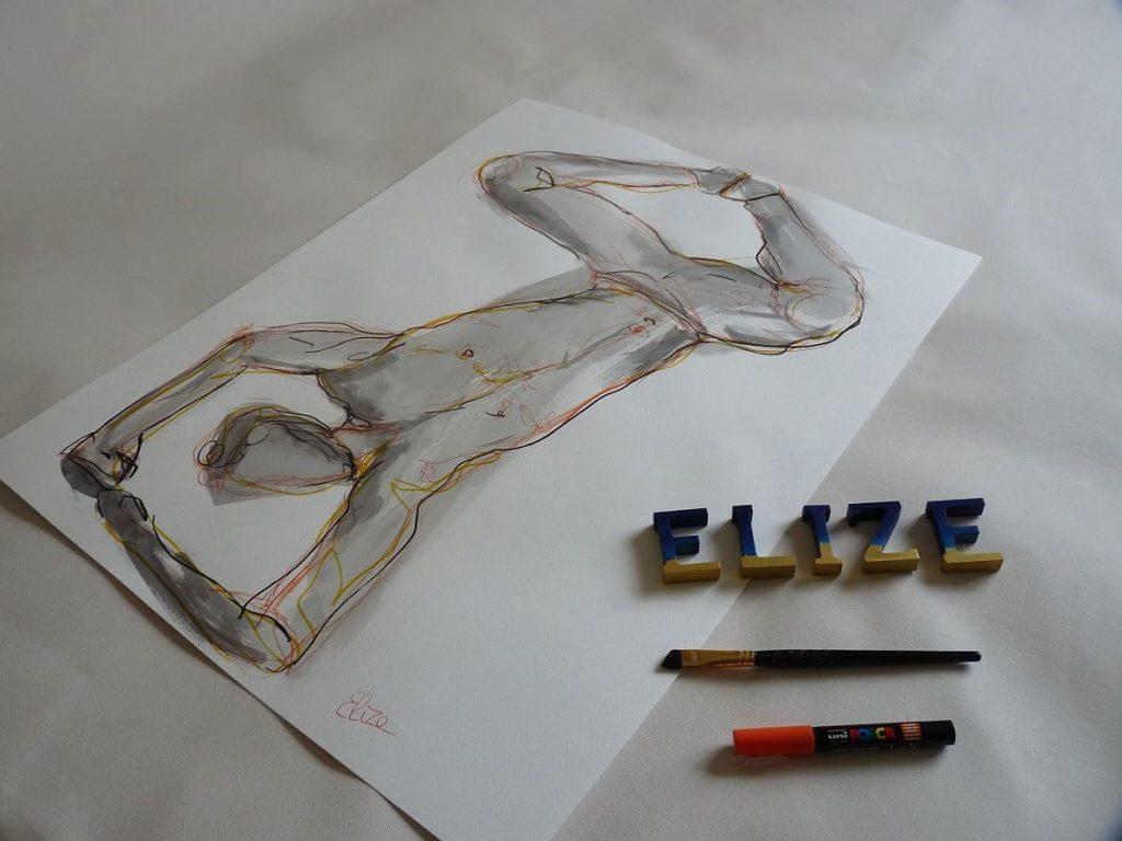 dessin danseur esquisse elize pigmentropie elize hip-hop dabse