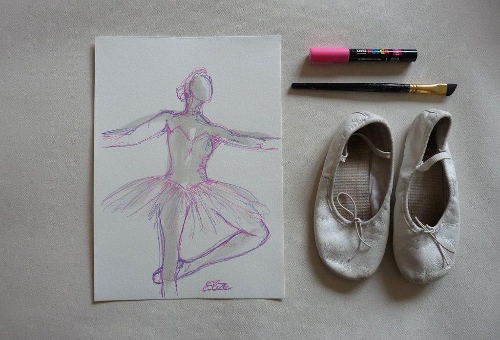 danse dessin danseuse esquisse elize pigmentropie elize tutu classique