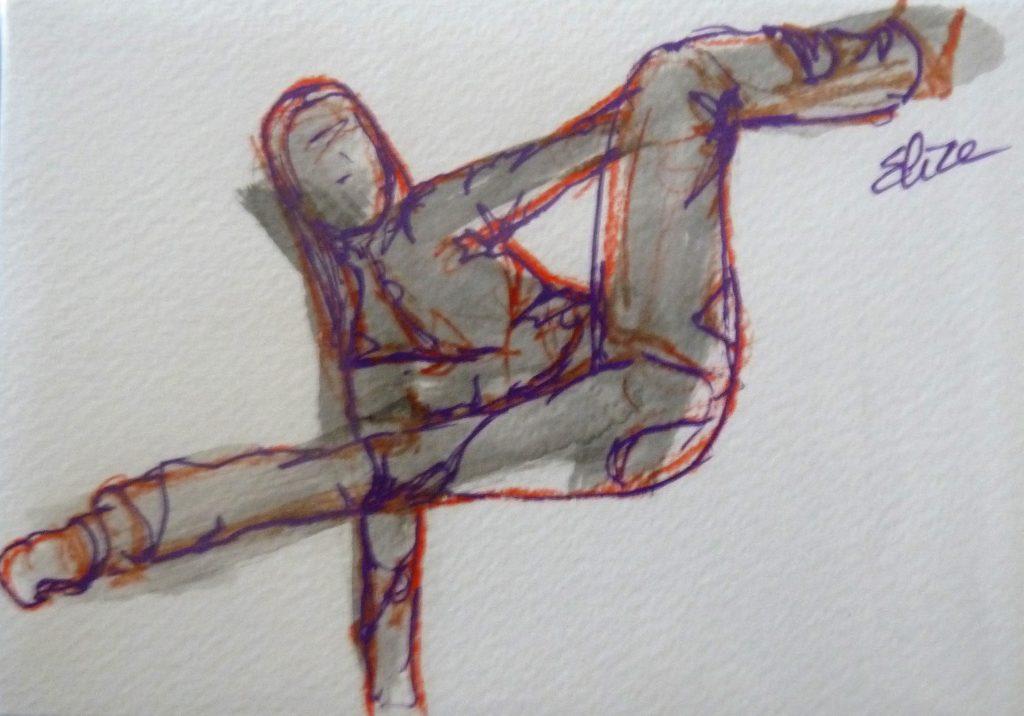 danse dessin danseuse esquisse elize pigmentropie elize hip-hop