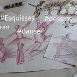 dessins danse esquisse artistique elize danseuse