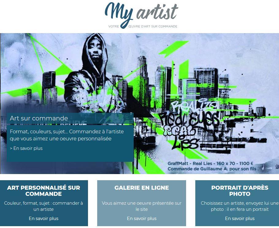 myartist art commande personnalise oeuvre