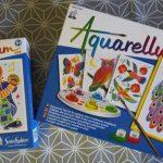 Aquarellum paon peinture enfant couleur aquarelle clown boite cadeau