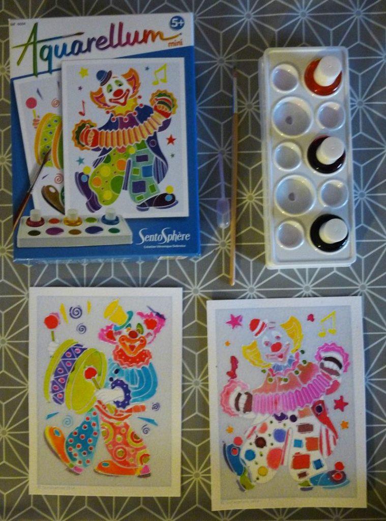 Aquarellum clown kit peinture enfant couleur aquarelle