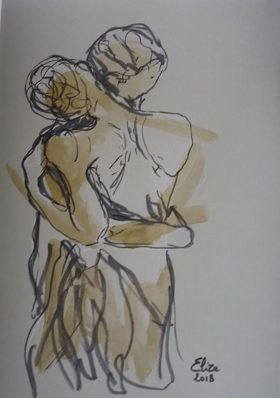 Camille Claudel Elize la valse danseurs sculpture détail