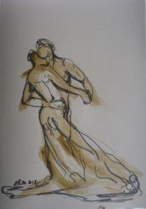 Camille Claudel Elize la valse danseurs sculpture