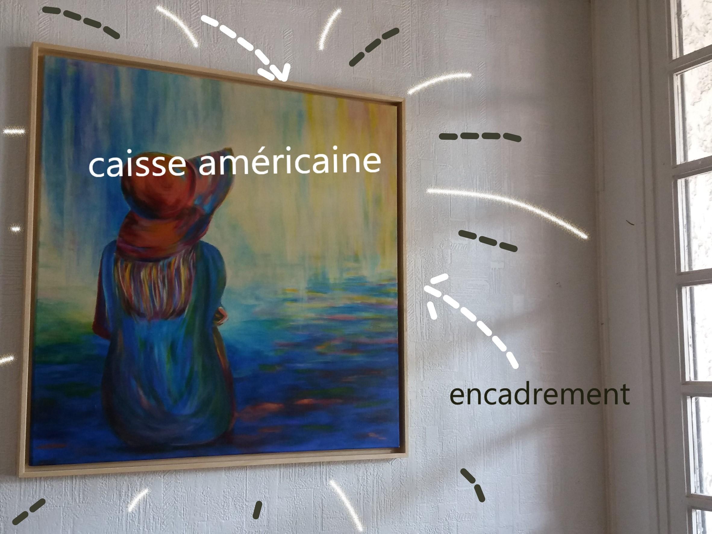 Comment Encadrer Une Toile la caisse américaine encadre mes tableaux - pigmentropie