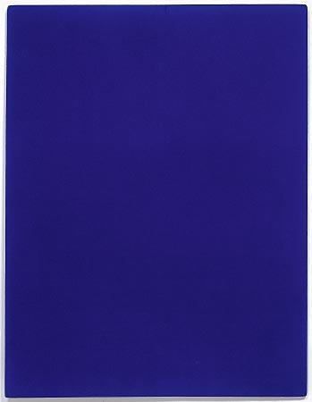 yves klein monochrome ikb peinture bleue bleu blue