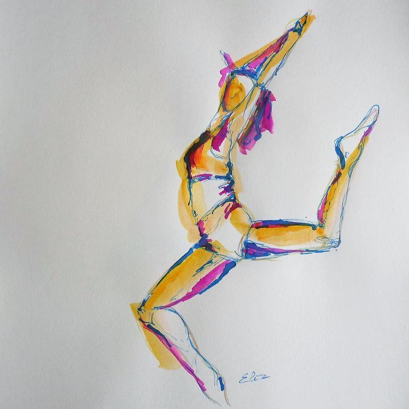 esquisse elize pigmentropie jaune ocre danseuse