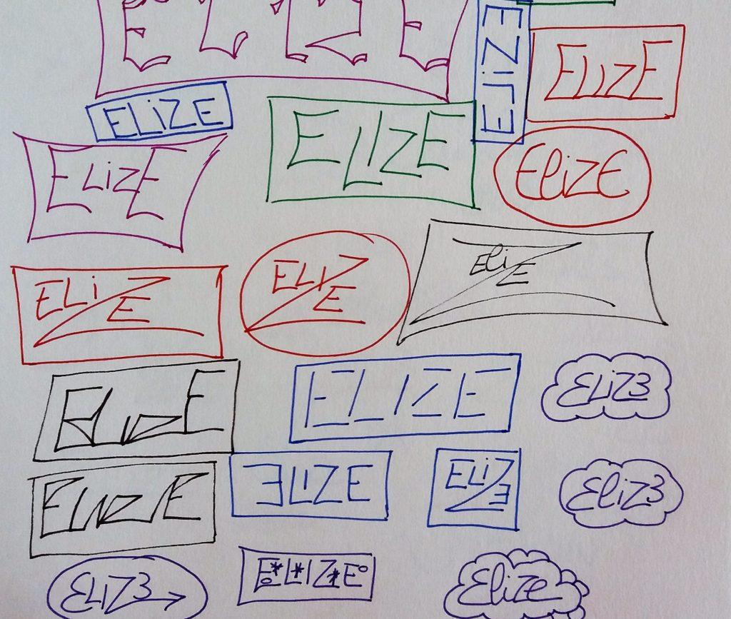 elize signature cadre prénom écriture