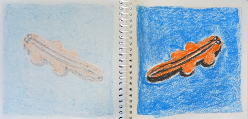 carnet crocodile orange bleu pop art