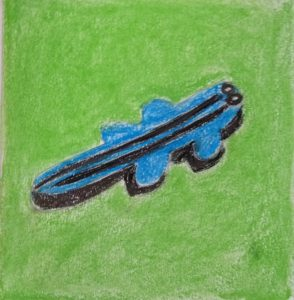 crocodile dessin vert bleu pop art