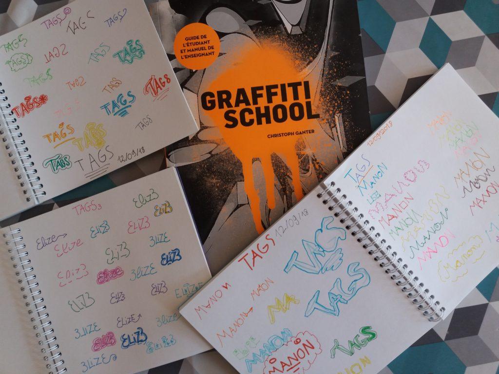 graffiti school livre écrire tag