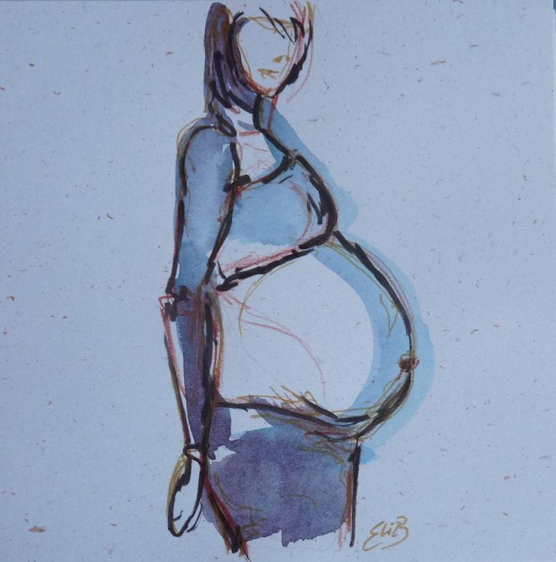 enceinte maternité attendre bébé dessin elize