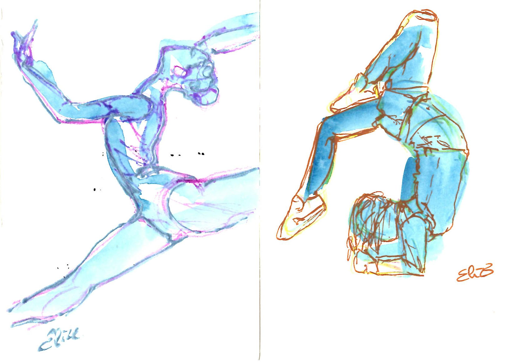 elize dessin esquisse danse bouger