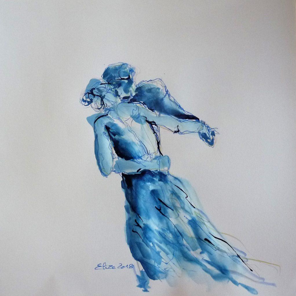 elize esquisse danse camille claudel pigmentropie bleu valse amour complicite